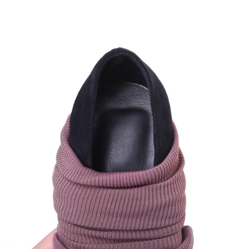 Scarpe a punta sexy stiletto tacco alto sopra il ginocchio Stivali Donne Plus Size Calzino elastico Stivali Primavera Autunno Nero lunghi stivali Shoes
