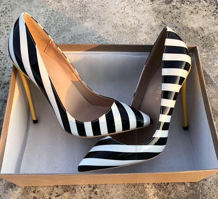 Горячая обувь Продажа-OL высоких каблуков Свадебной вечер официально платья партии обувь Sexy Stilettos Женщина насосы Размера 43