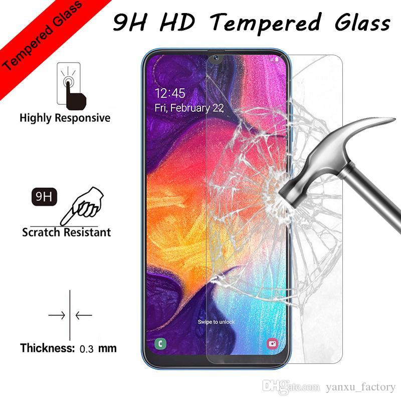 9H الزجاج سامسونج غالاكسي A10 A20 A30 M10 M20 M50 حامي الشاشة الزجاج الواقي Samsung A51 A71 A91 A60 A70 A80 A90 الفيلم