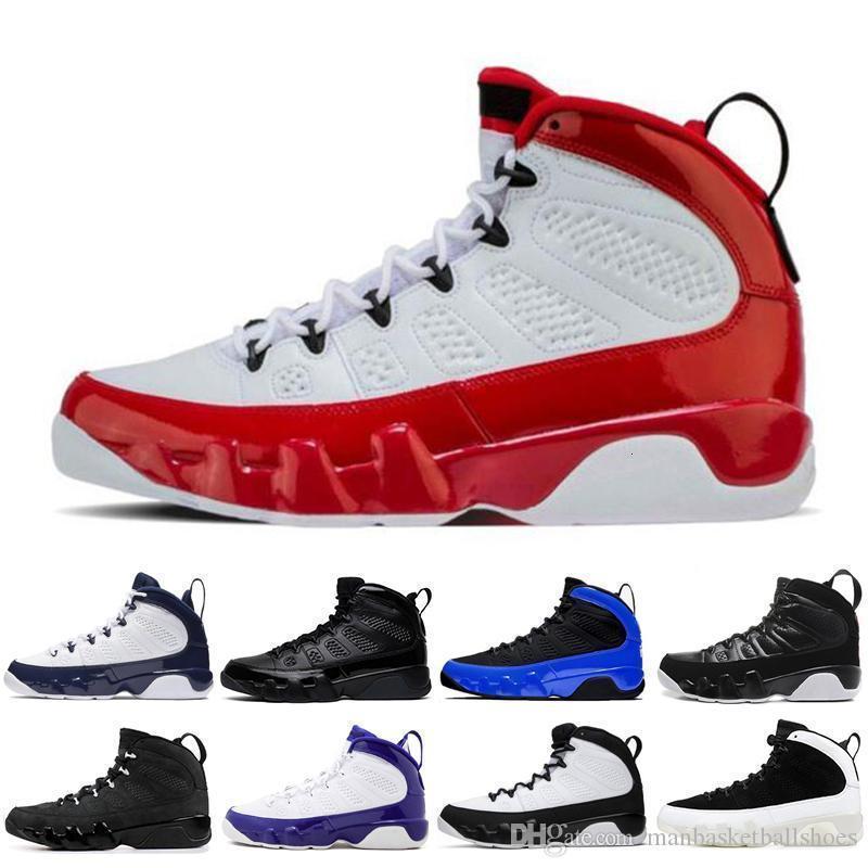 Le plus récent 9 9s de basket-ball pour Hommes Dream It Do It gymnase élevé rouge bleu noir Formateurs hommes chaussures de sport 7-13