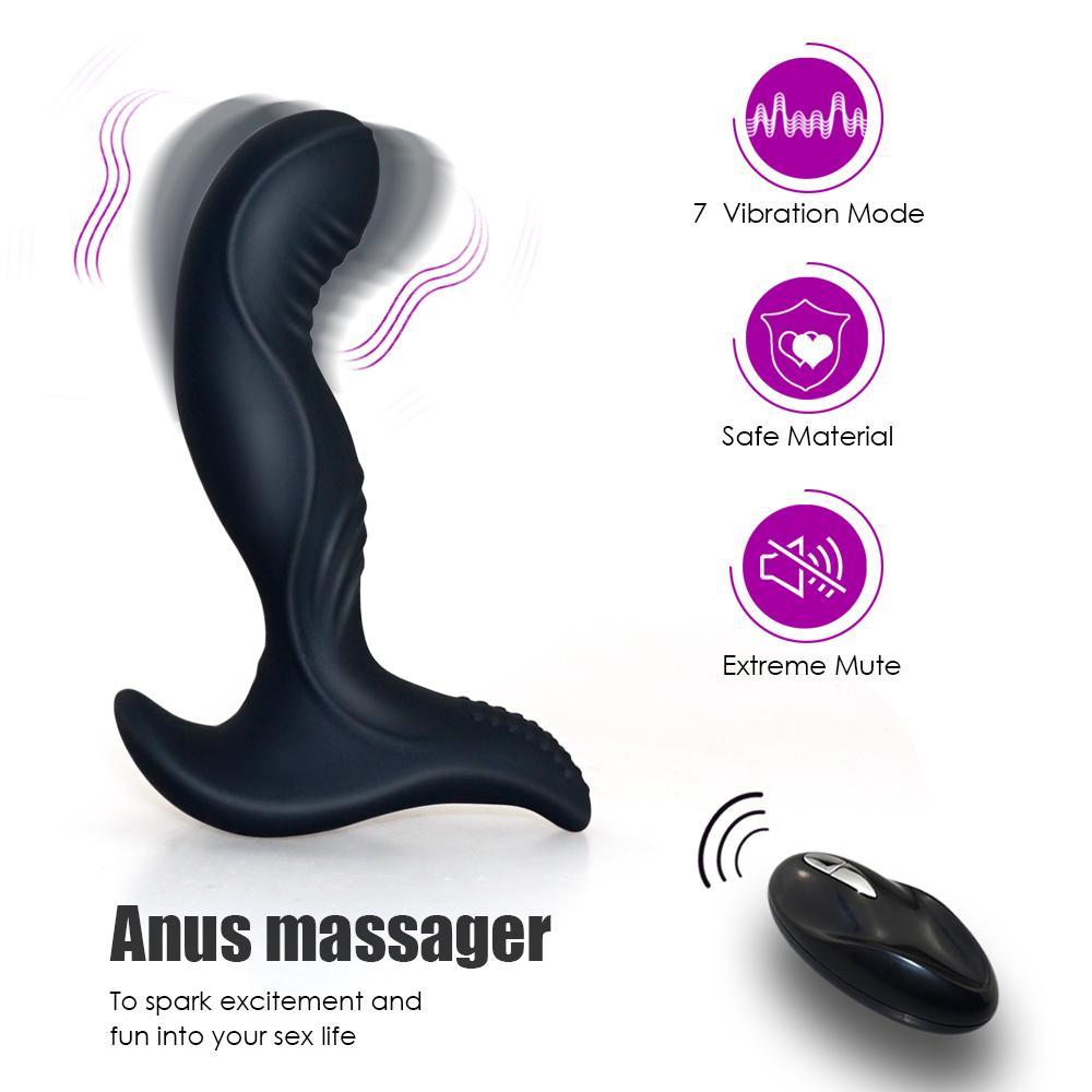 Vibrator, silikon masturbator männer stecker stummschalten drahtlose prostata für steuerung männer mx191228 fernmassagegerät erwachsener anal spielzeug analsex mann mcjwb