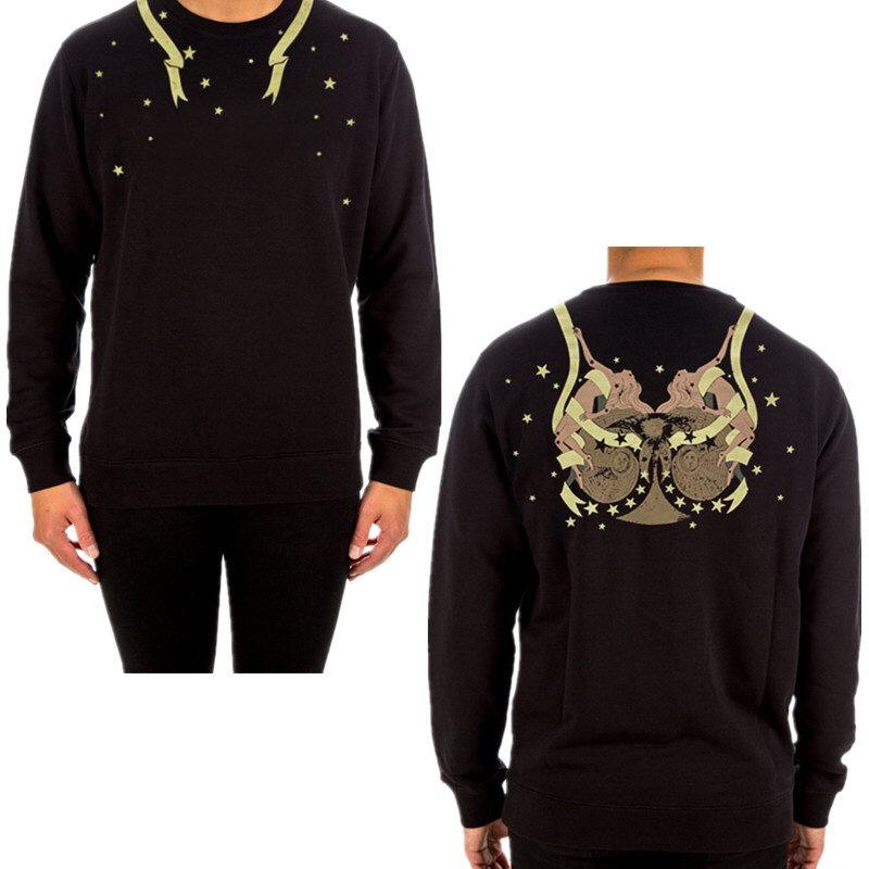 Üst Kalite Moda Unisex Kadın Erkek Oversize Tasarımcı Hoodie Lüks Jumper Marka O-boyun Kazak Siyah Pamuk Fleece Casual B103820Z
