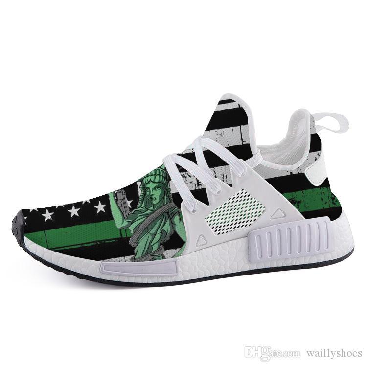 kutusuyla Baskı Koşu Ayakkabı gümrük Hu iz Krem Çekirdek Siyah inek Pamuk Şeker eğitmenler Erkek Kadın Spor sneaker Pitch Black