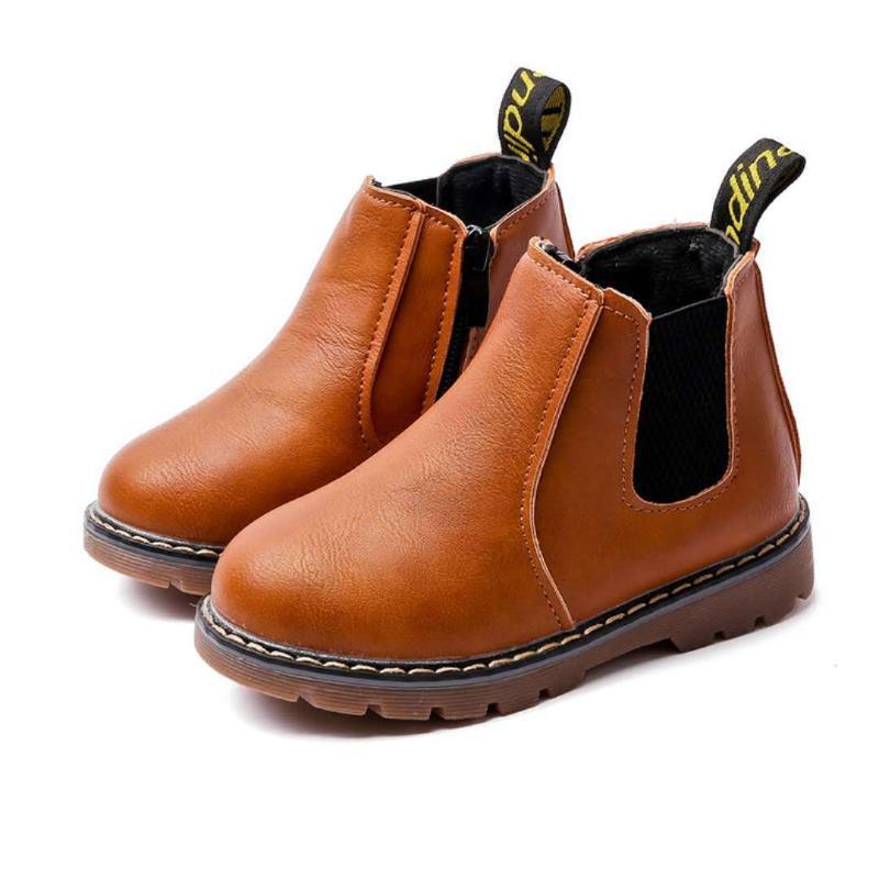 Kış çocuk botları kız erkek peluş rahat sıcak ayak bileği ayakkabı çocuklar moda sneakers bebek kar