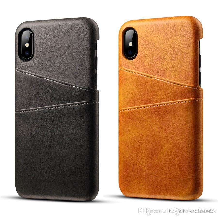 UK Wholesales Genuine Real Leather For iPhone XS Max Case X XR Retro Vintage Back Cover For iPhone 7 Case 8 Case 6 6s Plus Phone Bag Cases