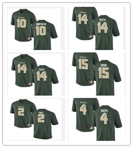 Cheap wholesale Baylor Football jerseys 14 Bryce Petty 10 Robert Griffin III 25 Lache Seastrunk Stitch customiz any name number