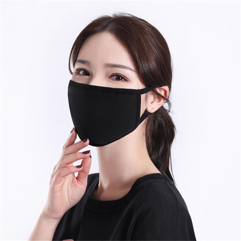 Masque noir en coton classique Mode Masques visage lavable réutilisable en tissu anti-poussière Masque de protection Masques Produits Party Party Masques DHB45