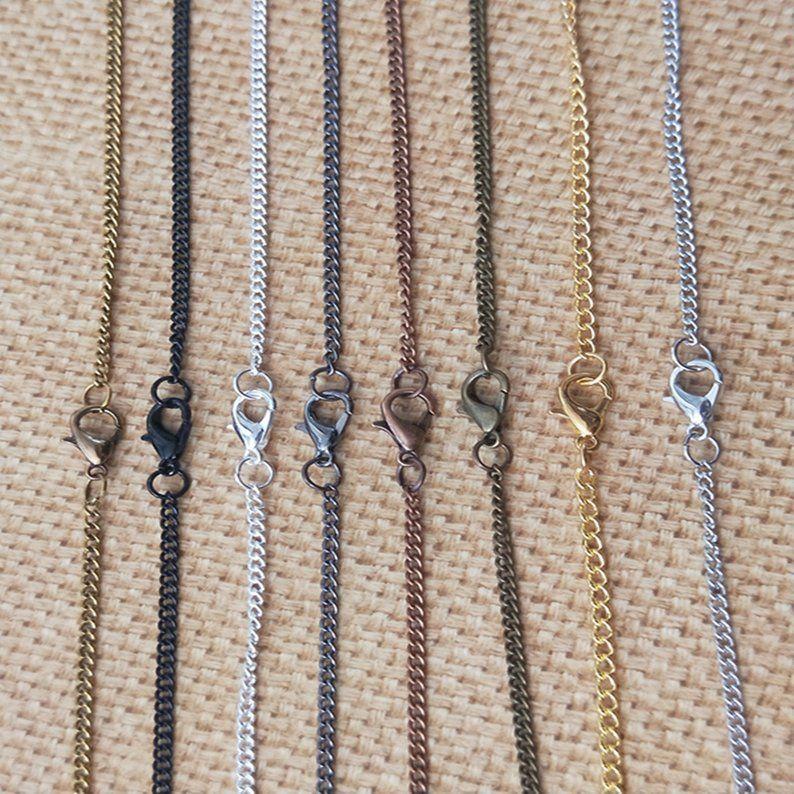 Бронза / серебро / черный / золото / медь Красный / Gunmetal Black цепи ожерелье карманные часы цепь с застежкой омар 2mmx3mm 8color 22inch 100pcs /