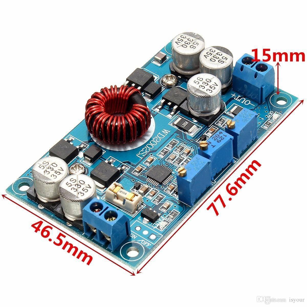 Livraison gratuite LTC3780 DC 5V ~ 32V à 1V ~ 30V 10A Module de charge du régulateur abaisseur automatique 77,6 x 46,5 x 15 mm Circuits intégrés