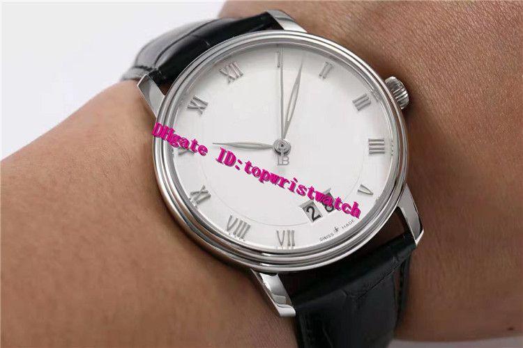 HG Villeret 6669-1127-55B большая дата роскошные мужские часы Наручные часы из нержавеющей стали швейцарский 6950 автоматический механический 28800vph Сапфир водонепроницаемый