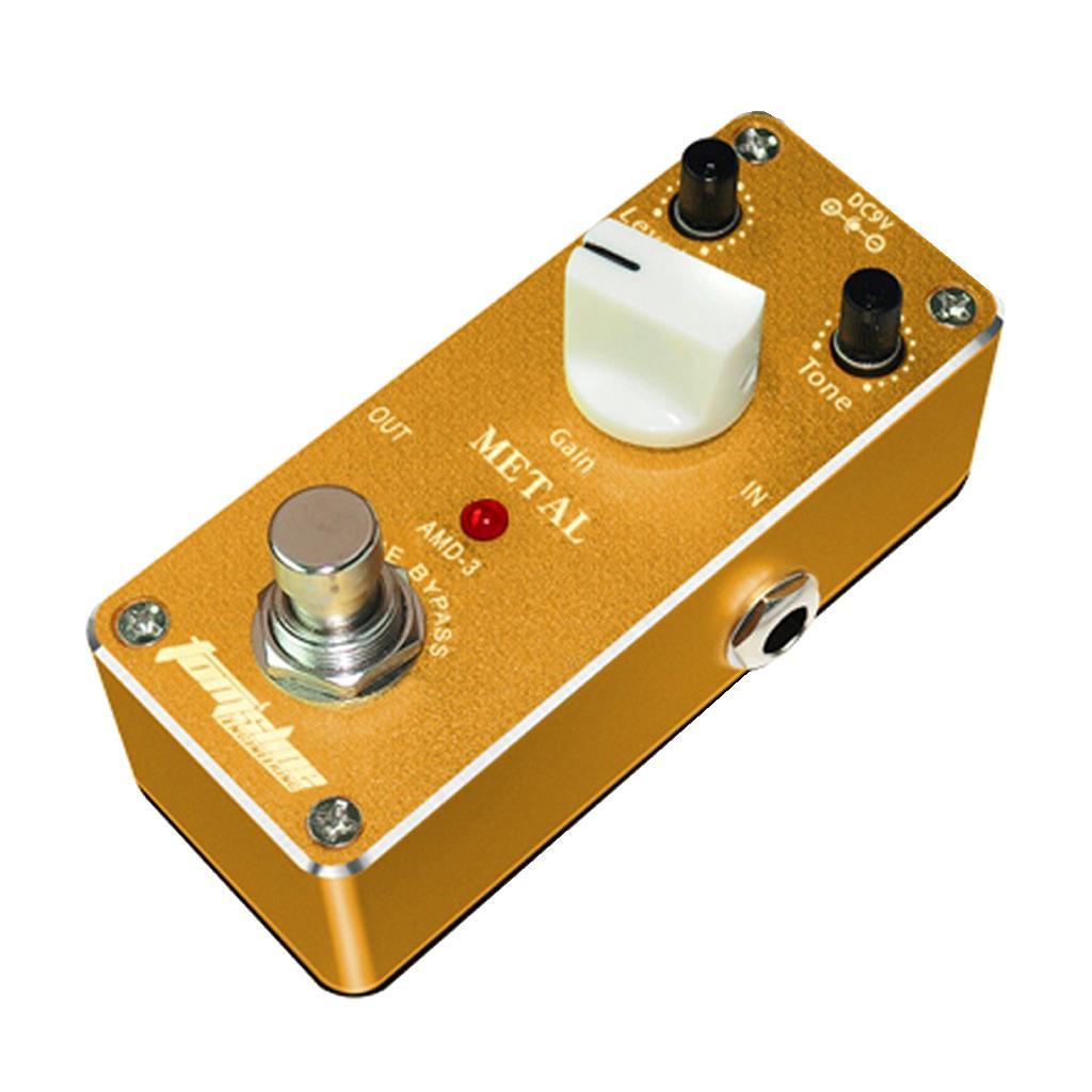 Efecto guitarra eléctrica pedal de distorsión puente verdadero del interruptor de CC 9V