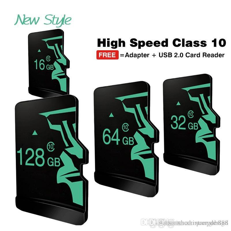 Reale Kapazität Micro SD Card16GB ~ 128GBMemory Karte TF Transflash-Karte Mini SD-Karte Class10