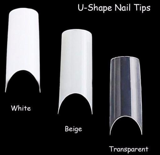 100pcs Art U-shape Half Cover French Manicure False Tips Fake Nails Artificial Nails Beauty Products