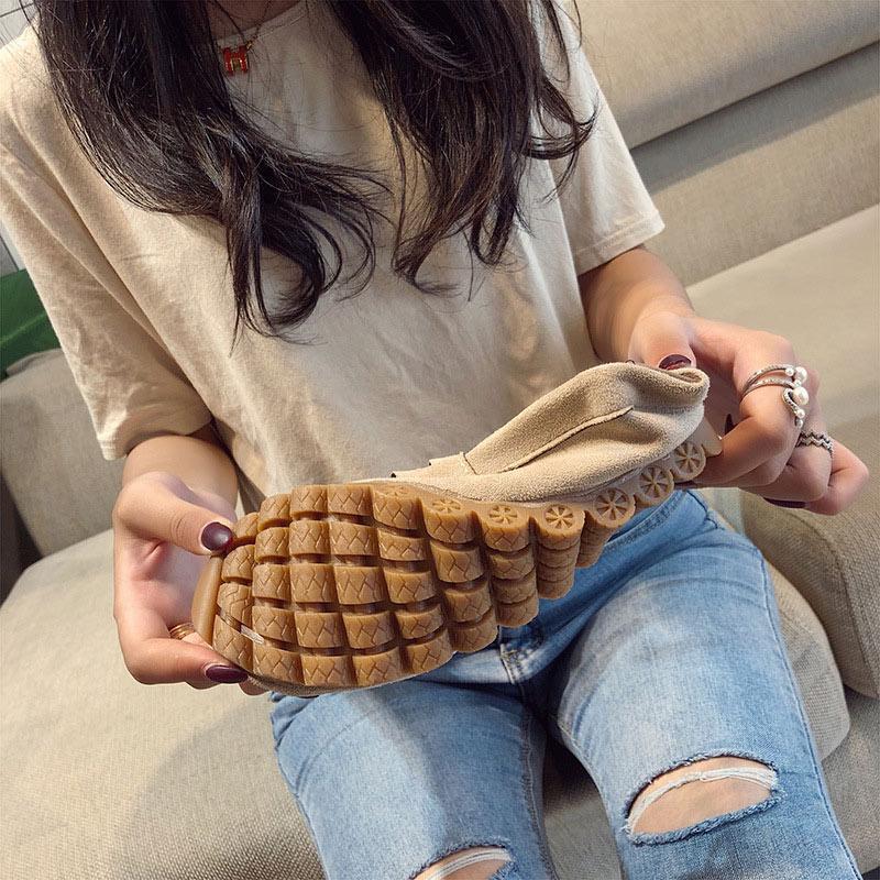 نسائية عادية شقق متعطل السيدات زلة مريحة في لينة أسفل النساء غير زلة أحذية امرأة كسول أنثى 2020 ربيع جديد