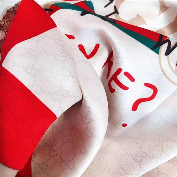 2020 lüks eşarp markası ünlü tasarımcı mektup model bayan Hediyesi eşarp kaliteli% 100 ipek uzun eşarp boyutu 180x90cm