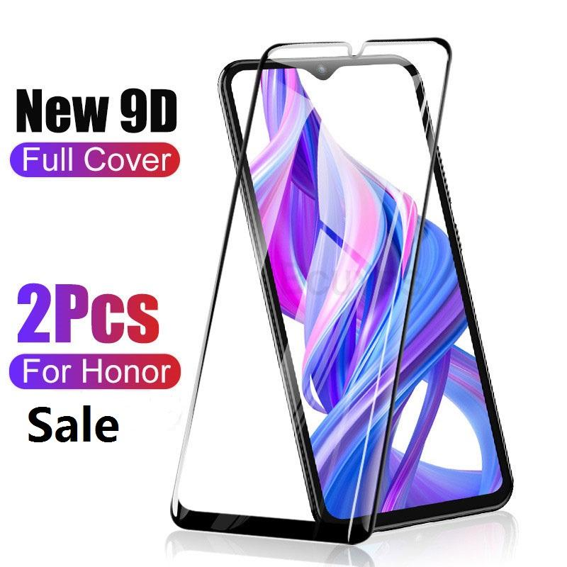 9D Full Cover Tempered Glass For Huawei Honor 10 9 20 Lite Screen Protector For Honor 8X 8A 9X V20 10i 20i 9i Protective Glass