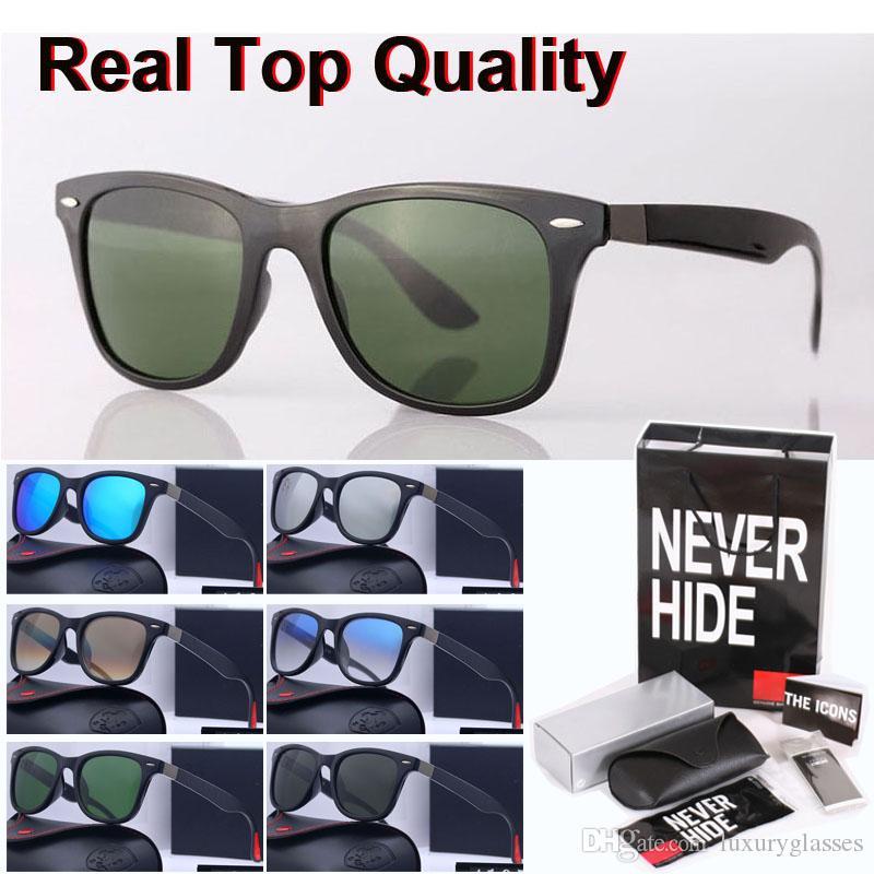 marca de calidad superior gafas de sol de los hombres de las mujeres del diseño de marca metal UV400 lente de cristal de espejo de bisagra con la caja original, paquetes, accesorios, todo lo