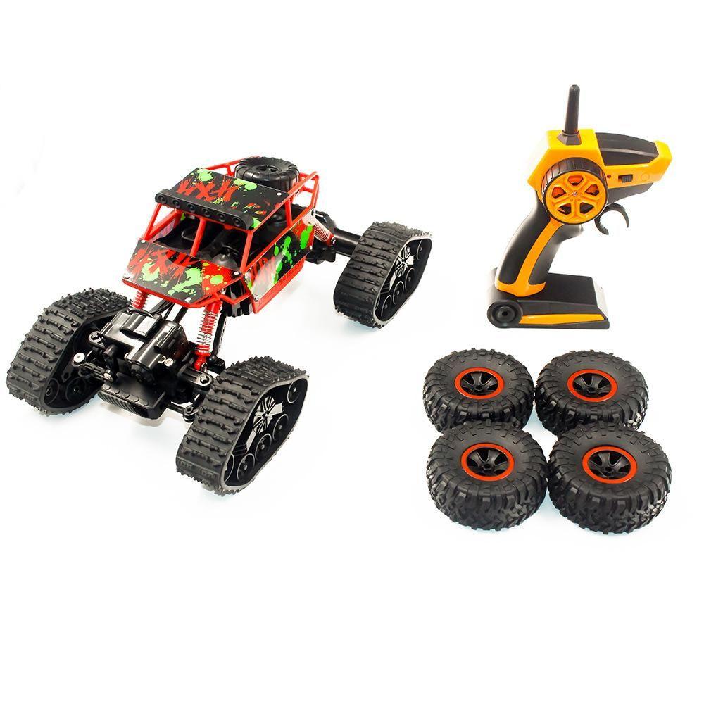 YY 2.4G RC Crawler-type Neve Climbing Car 1:18 Monster Truck, SUV com neve Tiro, 4 Peças Pneus grátis ampla potência, Kid Xmas presente de aniversário 2-1