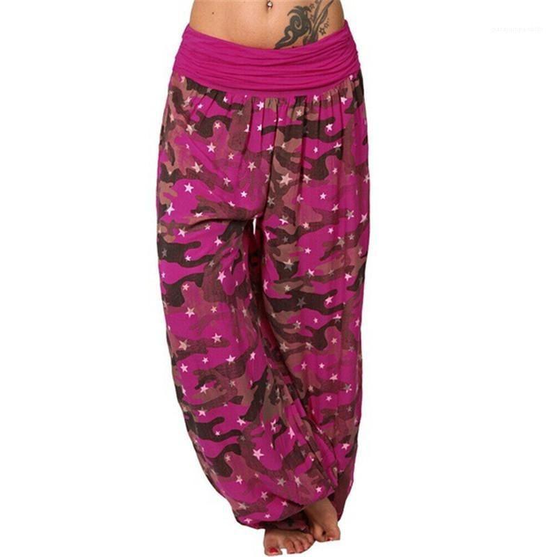 Pannelli Plus Size pantaloni dello stilista Camouflage stampati Pantaloni estivi donna pantaloni larghi del piedino Loose Women