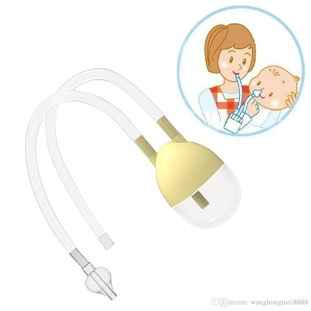 Infant Newborn Baby Care Safety Nose Nasal Mucus Runny Cleaner Aspirator Vacuum Suction Inhale with Tweezer Cleaning Tool