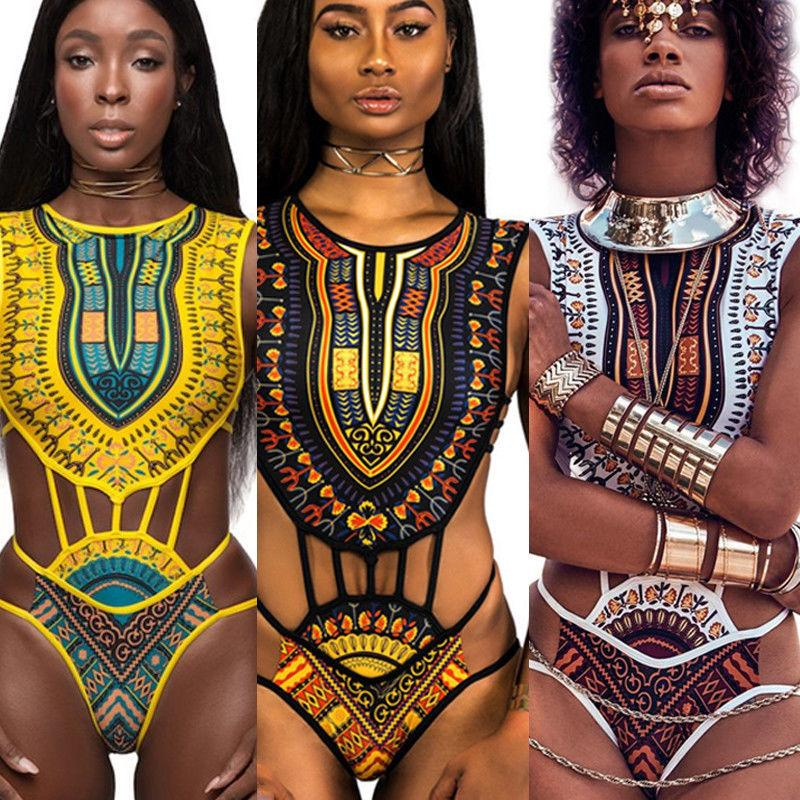 Le nuove donne africane Etnica Fringe design Swimwear One Piece Monokini scava fuori Backless costume da bagno giallo Bianco Plus Size