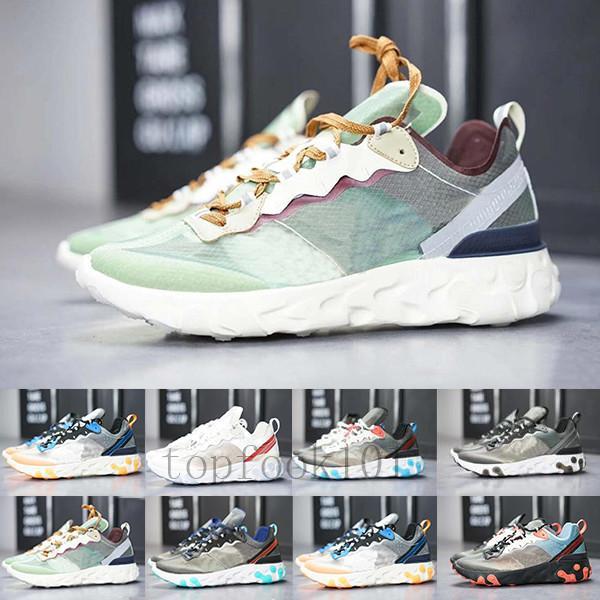 Yeni 2019 eleman 87 Undercpver spor ayakkabısı ayakkabı GJL-9T çalışan Yaklaşan erkekler moda lüks Tasarımcılar kadınlar ayakkabı x tepki
