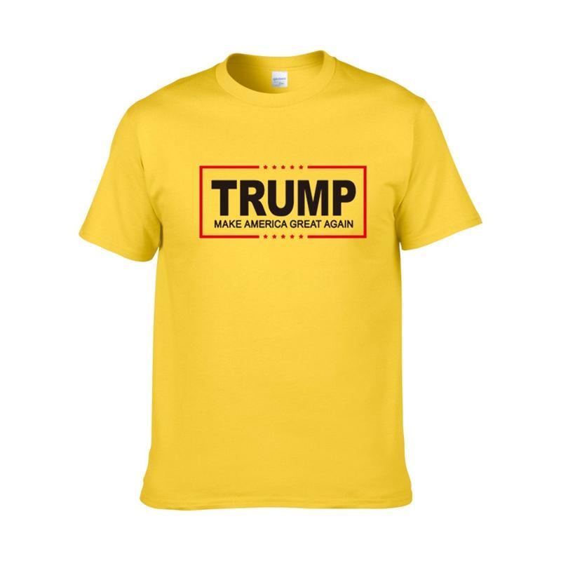 Breve Trump T-shirt 2020 modo di alta qualità del progettista stile degli uomini europei girocollo Trump T-shirt 100% a manica corta vestiti da uomo in cotone