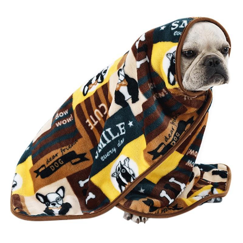 Fleece Bulldog francese Cane Coperte Mats inverno caldo dell'animale domestico della base della stuoia per cani Cuscino Coperta Cucciolo gatto addormentato coperto Mats