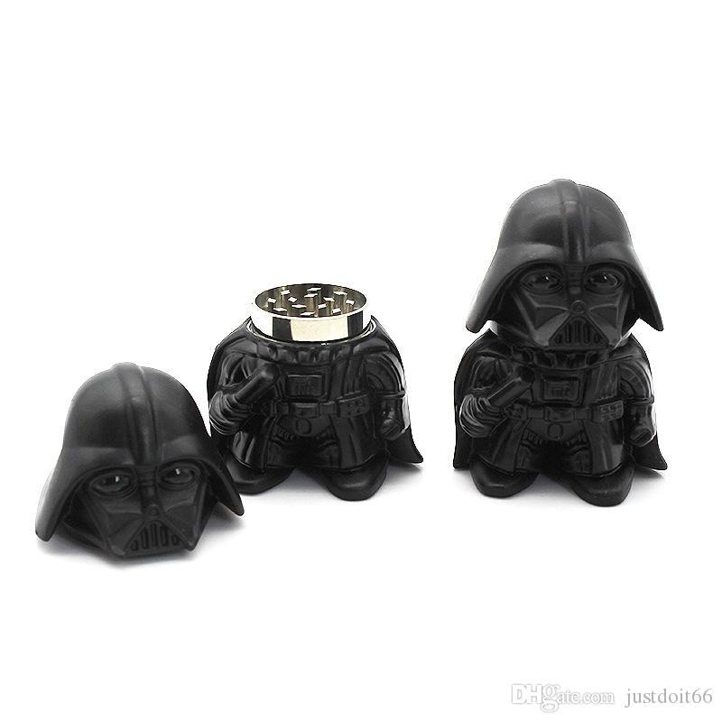2020 NOUVEAU Design Black Knight Grinder 3 Couches Alliage de zinc Fumeurs Tabac Moulin à tabac 36mm Diamètre Herb Meuleuses pour Fumer Grinders GR194