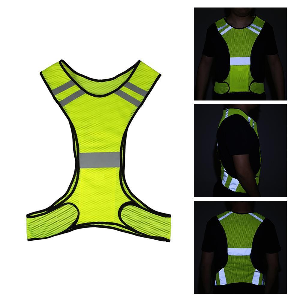 Leggero Mesh traspirante riflettente ciclismo gilet ad alta visibilità di sicurezza Vest ingranaggi per Running Walking Ciclismo Jogging