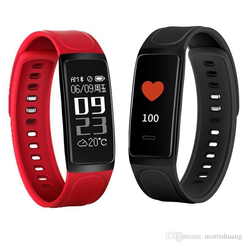 Smart-Band-Puls-Monitor Blutdruck Armband C7S Wasserdichtes Armband Fitness Tracker Bluetooth Uhren Pedometer