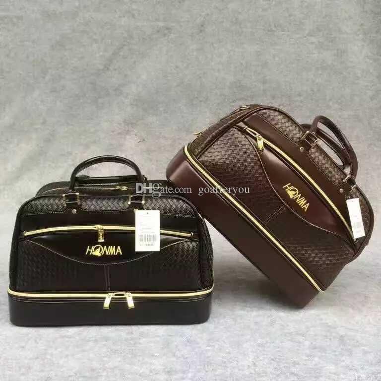High End HONMA Golf Boston Bag Mulheres tecido de couro Vestuário Golf Bag for Men