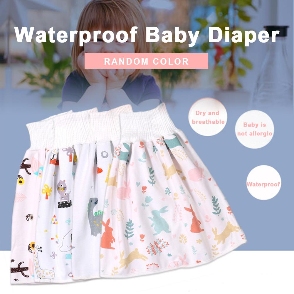New baby waterproof diaper skirt can be washed waterproof diaper high waist protection belly sleeping urine bed four seasons unisex