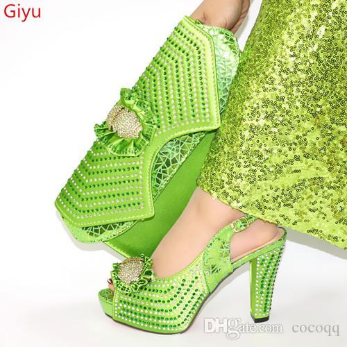 Итальянская обувь и сумки, чтобы соответствовать обувь с сумкой Набор африканских Наборы партии обувь и сумка комплект! KG1-9