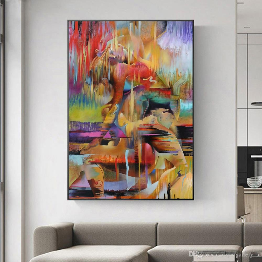 2021 Abstract Lover Pop Art Home Decoration Home Wall Art Decor Handpainted Hd Print Oil Painting On Canvas Wall Art Canvas Pictures 190907 From Supergallery A 22 39 Dhgate Com