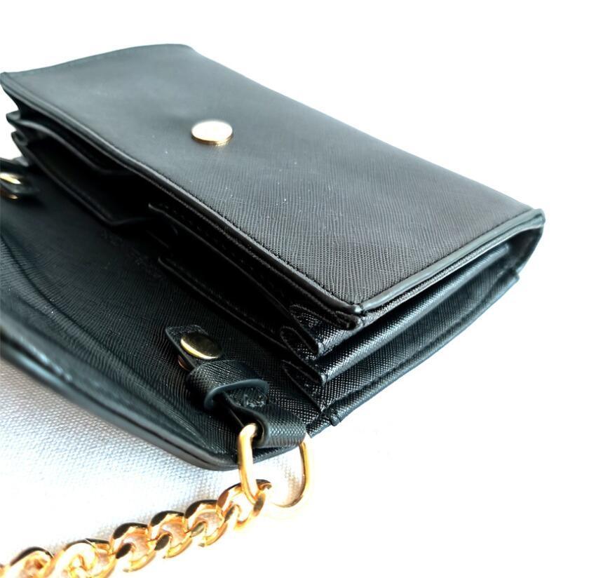 2020 High Quality Women Wallet Metal Sheets Decorate PU Leather Wallet Women Fashion Zipper Short Coin Purse #C#236