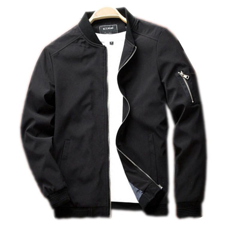 Bahar Yeni Erkek 'S Bombacı Fermuar Ceket Erkek Casual Streetwear Hip Hop Slim Fit Pilot Coat Erkekler Giyim Artı boyutu M-6XL