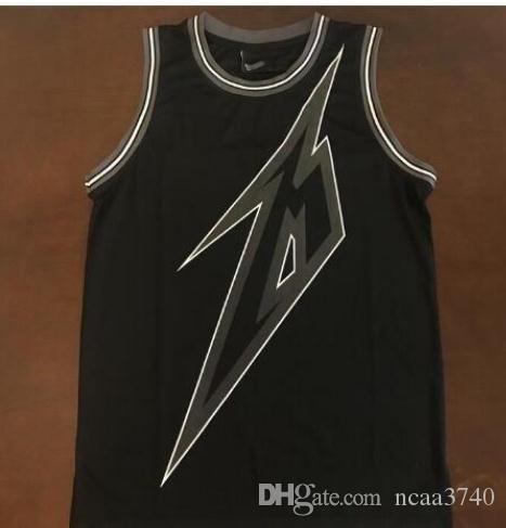 Пользовательские мужчины молодежь женщины Vintage Black 84 Metallica Ride the Lighting 30th баскетбольная Майка размер S-4XL или обычай любое имя или номер Джерси