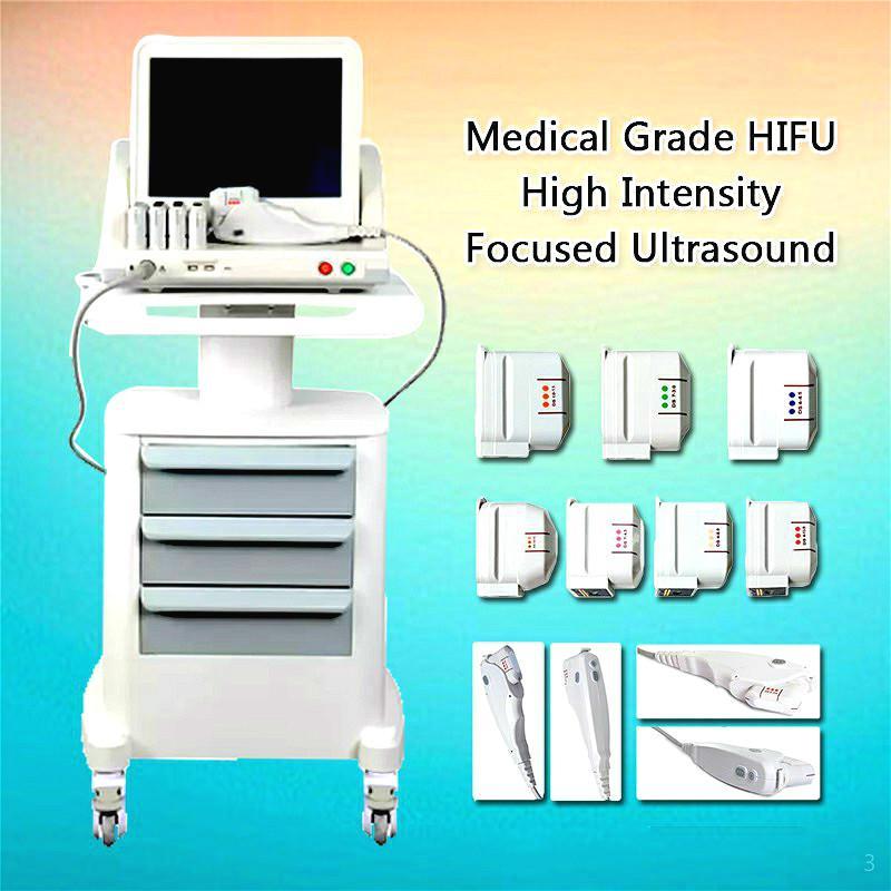 2020 Hot Vendeur de haute qualité HIFU peau de serrage, suppression des rides, Amincissant focalisés de haute intensité Machine à ultrasons Livraison gratuite