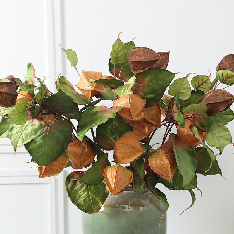 Lüks büyük pelerin Bektaşi üzümü bitkiler yapay çiçekler DIY Çiçek düzenleme düğün Dekorasyon sahte bitkiler flores artificiales