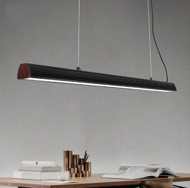 Super Simple Long Strip Hanging Lamp Office Aluminium Modern LED Pendant NE-21