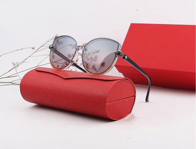 lunettes de soleil-Polarizerd Lunettes de soleil de marque pour miroir de verre Mens Vintage Sun Lense Gril Lunettes Lunettes Accessoires pour femme avec boîte 2975