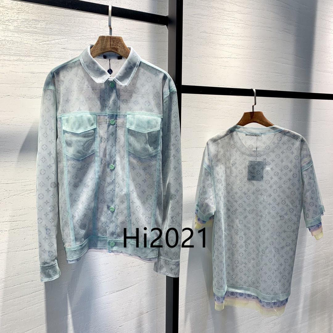 하이 엔드 여성 여자 캐주얼 싱글 브레스트 재킷에서 allover 모노그램 프린트 옷깃 목 긴 소매 블라우스 코트 2020 패션 고급스러운 디자인 정상