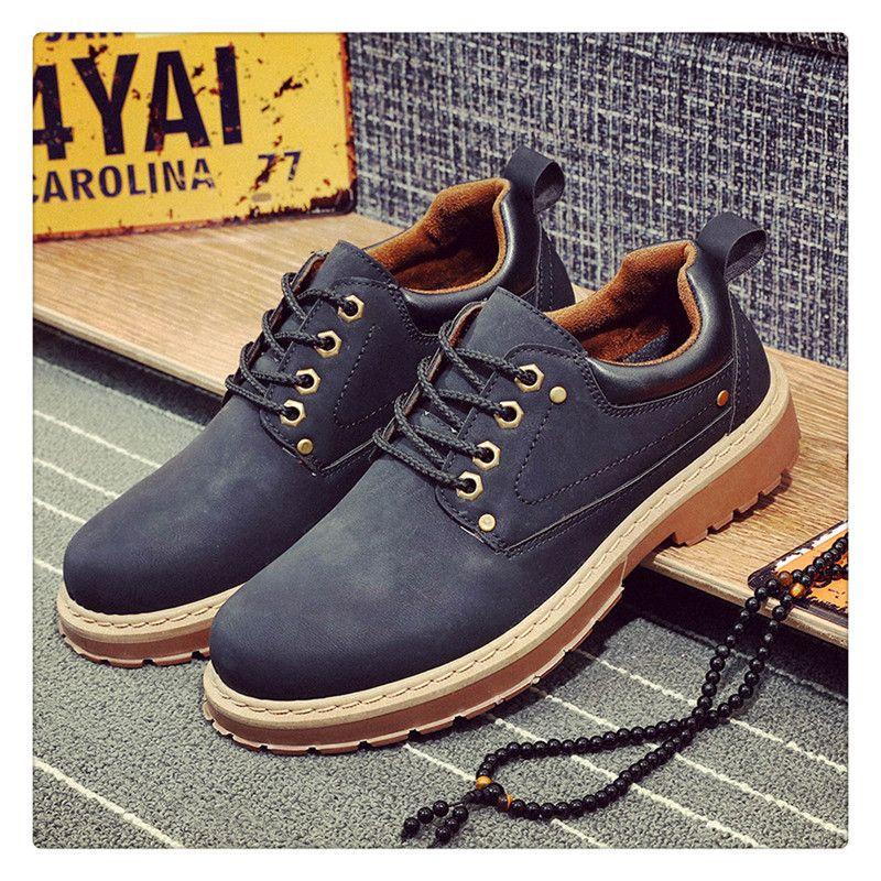 URBANFIND Men Couro Casual Shoes Men Martins sapatos de couro Trabalho Inverno Segurança tornozelo impermeável Botas