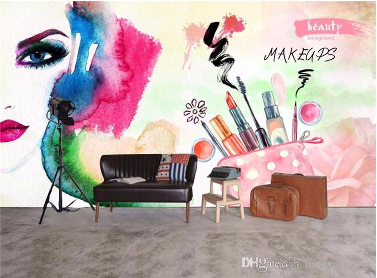 Compre Personaliza Cualquier Tamaño De Fondos De Pantalla Murales Foto Salón De Belleza Belleza Pintura Tienda De Uñas Decoración Carteles Imagen