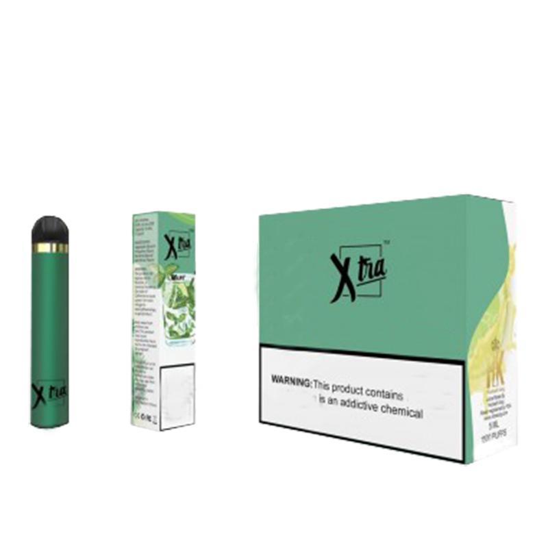 Newest XTRA Disposable Vape 5ml Cartridge 1500 puffs Starter Kit Device System VS Puff POP XTRA