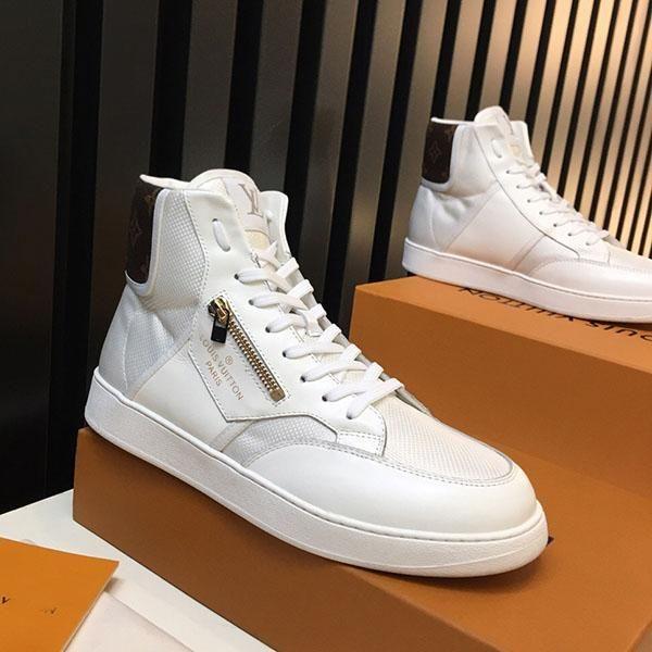 Мужская спортивная обувь плоские моды Скорость бегун высокого топ повседневная обувь суперзвезды печать кожи Роскошные мужские кроссовки высокой ква