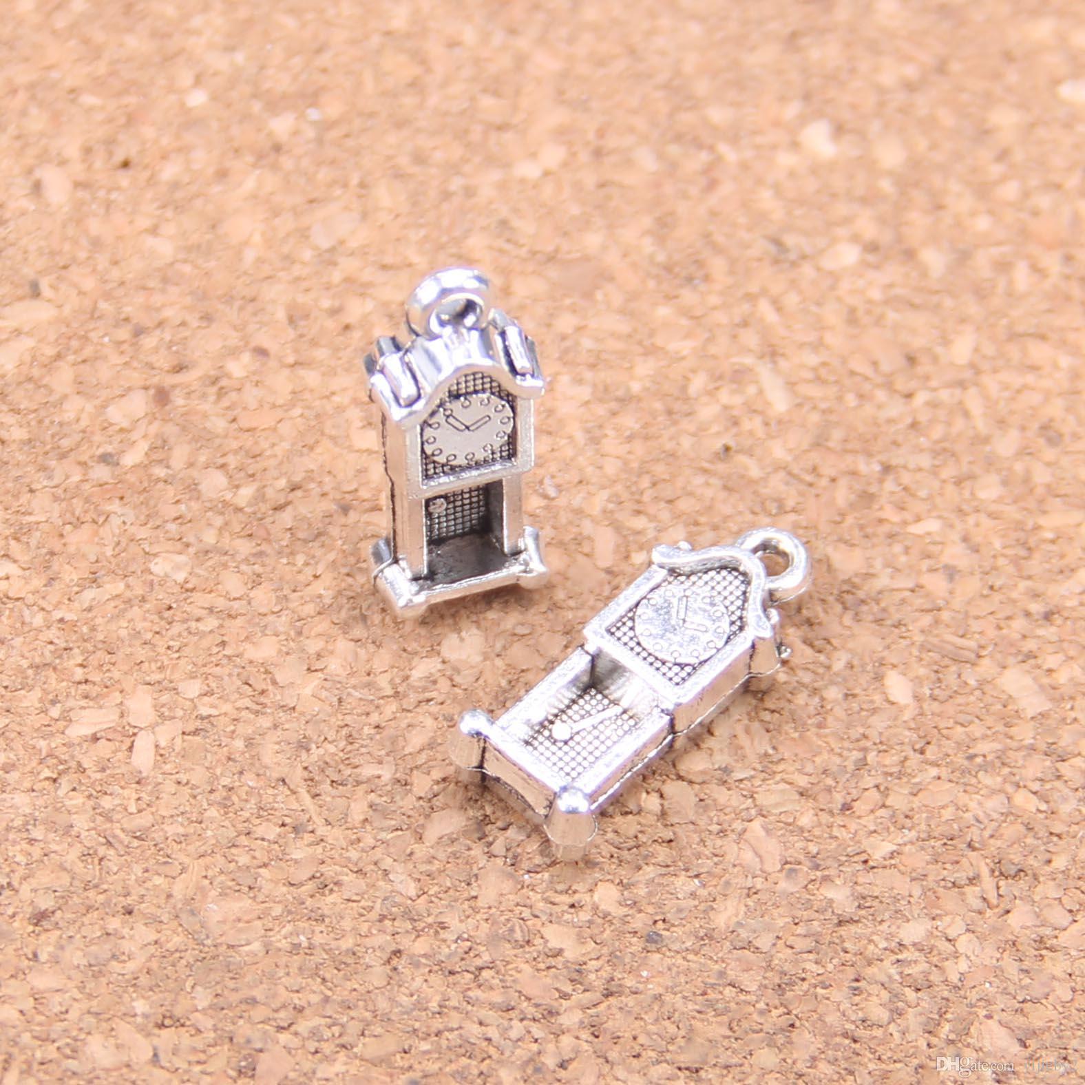 114pcs antiguo astilla reloj de péndulo antiguos hallazgos colgante del encanto del collar de la pulsera del brazalete DIY 20 * 8 mm
