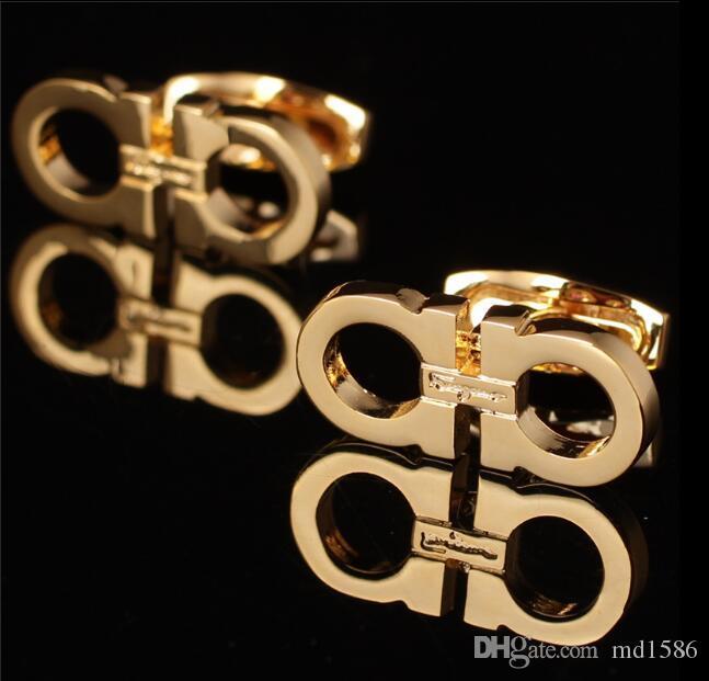 Hot sale Men shirt Luxury Cufflinks French Cuffs jewelry Copper Cuff links Groom's Wedding Groomsman cuff links have Box