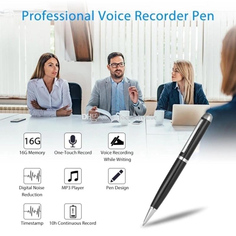 SK-025 Professional Mini Voice Recorder pen 16GB Pen Style Digital voice Recorder Portable Mini Small USB Disk Sound Recording Pen